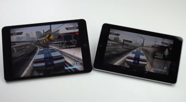 مقارنة جهازين iPad mini Nexus