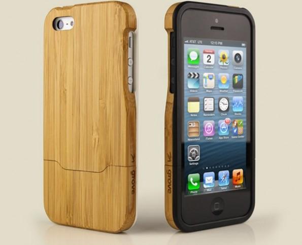 أغطية رائعة الخشب للآيفون5