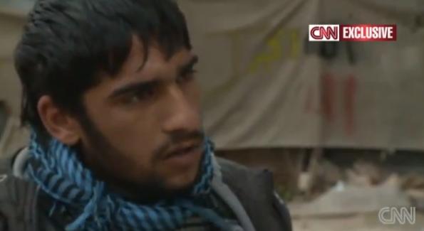 فيديو تقرير لشاب سوري يحاول