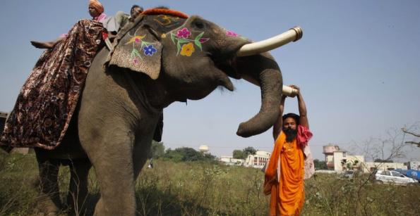 بالصور ملايين الهندوس يتوافدون لأداء
