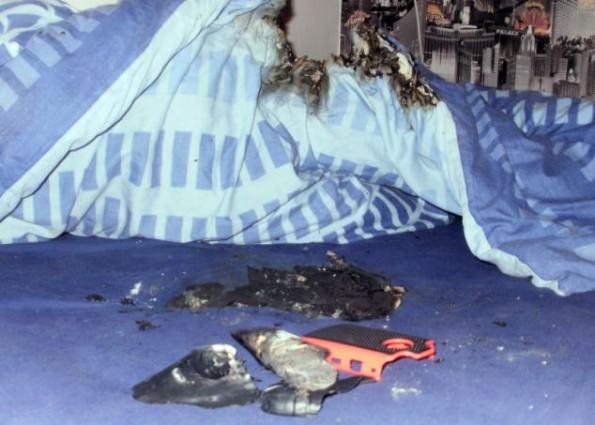 بالصور احتراق بريطاني بسبب انفجار