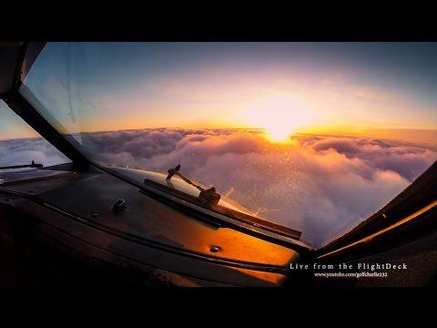 فيديو رائع من كبينة كابتن الطائرة مباشرة