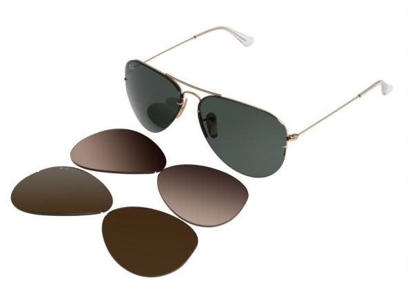 39ccabd30 نظارة شمسيه من Rayban مع خاصية تبديل العدسات - مدونة أبوفلان
