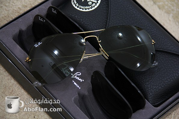 aa6390280 نظارة شمسيه من Rayban مع خاصية تبديل العدسات - مدونة أبوفلان